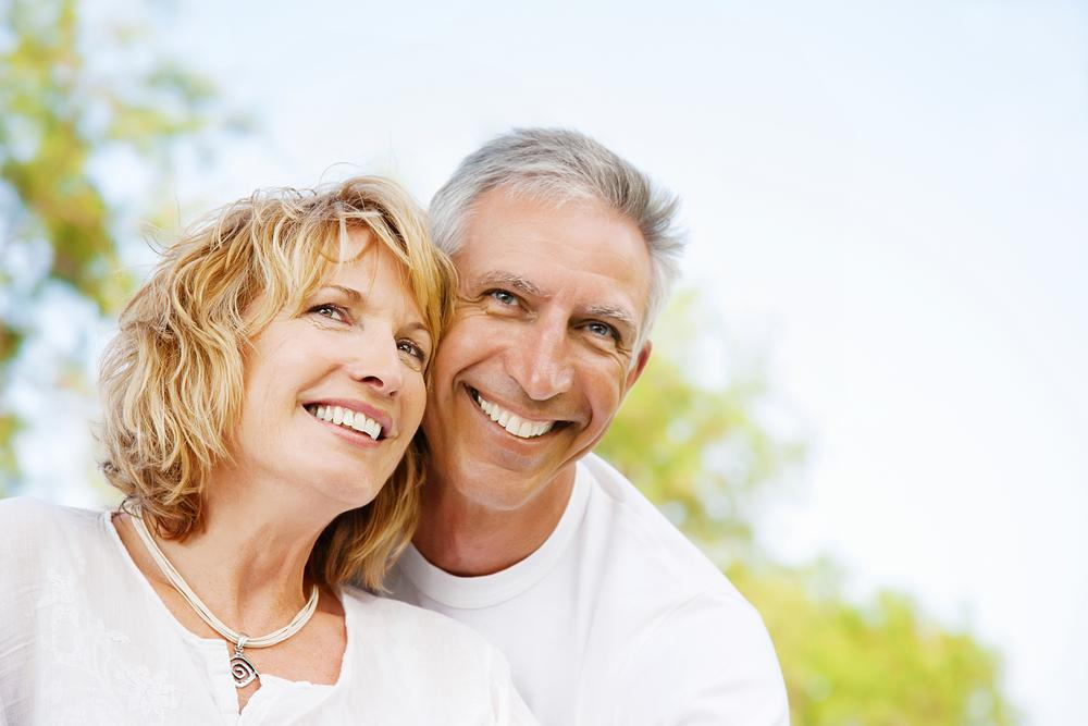 Older couple white teeth Virginia Water
